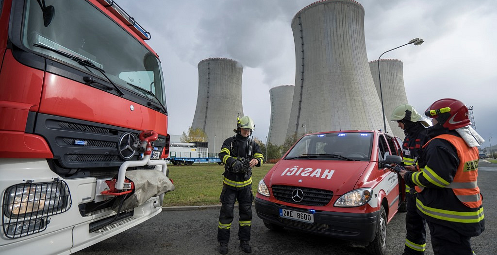 Dukovany Nuclear Power Plant firefighters use GINA intervention system